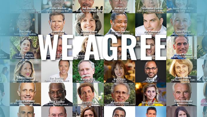 Dr David Katz Health Programs page: True Health Initiative - Composite head shots of professionals involved in the Initiative
