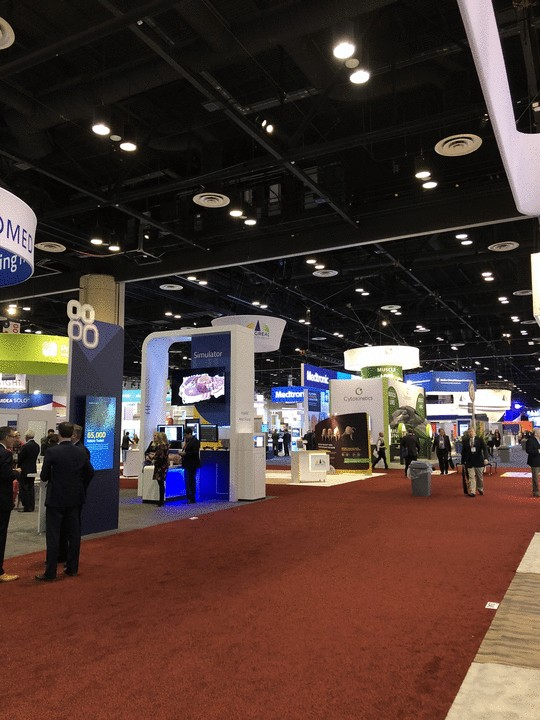 ACC 2018 Exhibition Hall: booths and people