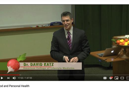 David Katz MD speaking at the 7th International Congress on Vegetarian Nutrition