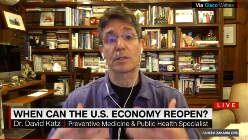 Dr. Katz, interviewed remotely from his library by Fareed Zakaria GPS, answers the question: Can we limit the economic cost of COVID-19?