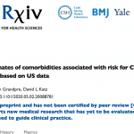 White Paper: Updated estimates of comorbidities associated with risk for COVID-19 complications based on US data.
