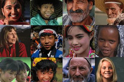 Head shots of 12 people of various ethnicities