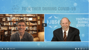 Dr. David L. Katz on the left and Mark S. Golub on the right in this virtual interview.