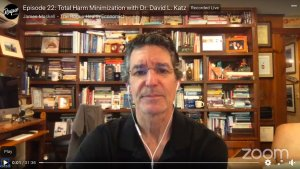 David L. Katz, MD screenshot in Zoom interview with The Rogue Health Economist